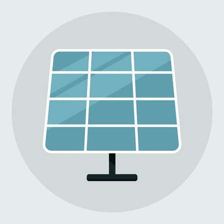 Solar energy panel. Solar panel icon isolated on grey background. vector illustration Illustration