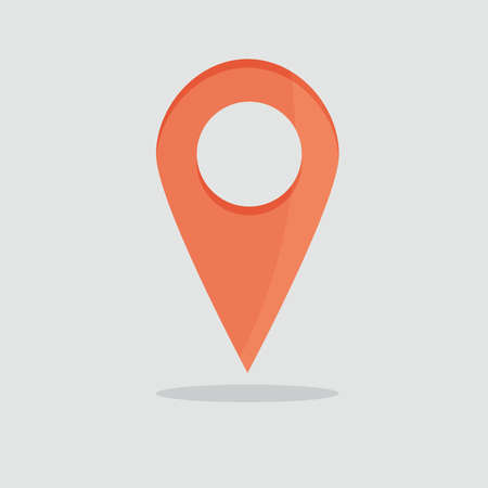 Map pin icon. Map pointer vector symbol. Marker sign. Vector illustration