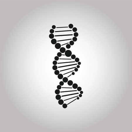 DNA icon. Genetic concept. Vector illustration symbol Stock Illustratie