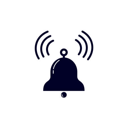 vector illustration of ringing bell. Bell icon on the white background