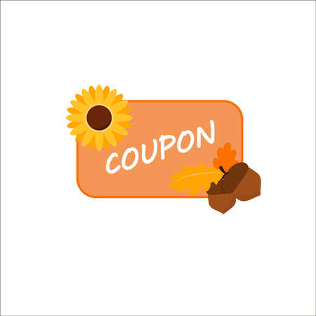 Colorful coupon with coupon Stock Illustratie