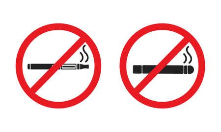 cigarette, red circle illustration Stock Illustratie
