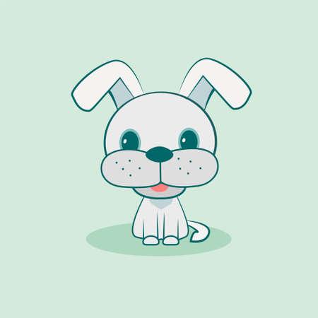Cute dog vector illustration. Flat design. Stock Illustratie