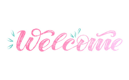 Vector text welcome