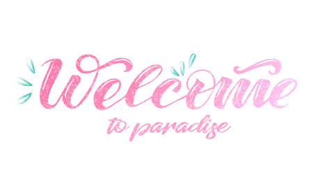 Vector text welcome to paradise