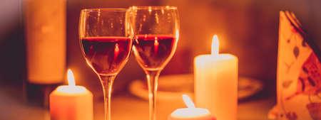 Romantic dinner in the restourant