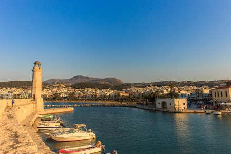 The old venetian port in Rethymno, Crete island, Greece.