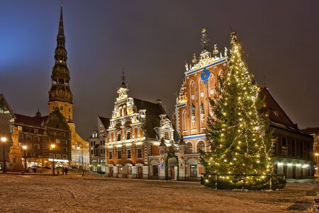 old town square: Riga at Christmas time