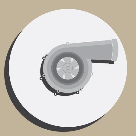 自動車チューニング パーツ タービン  イラスト・ベクター素材