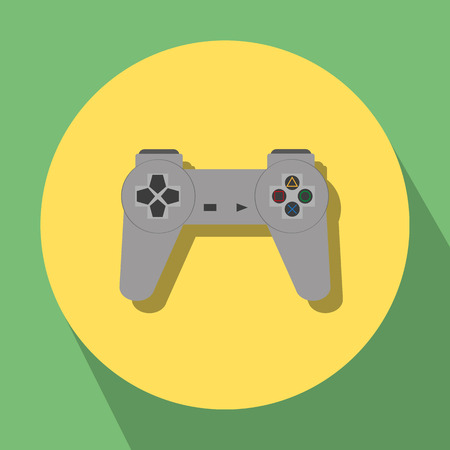 gaming: gaming joystick icon on yellow-green background