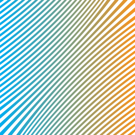 contortion: background vector blue orange line Illustration