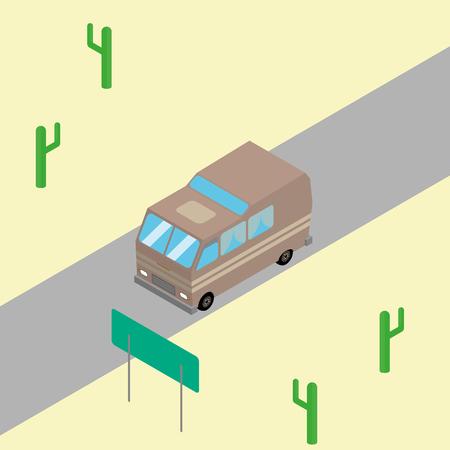 wilds: road travel Illustration