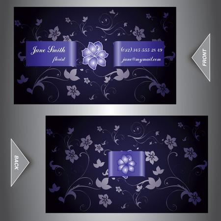 customisable: Pretty Elegant Business Card Illustration