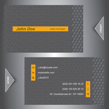 customisable: Stylish Business Card Template