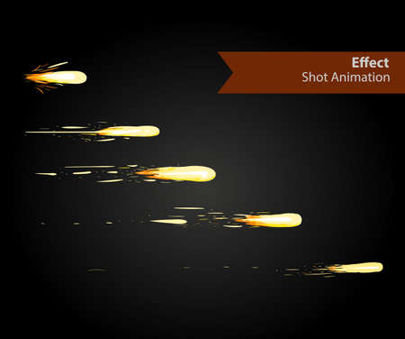 storyboard: Vector effect. Effect for game. Explode effect animation. Cartoon explosion frames
