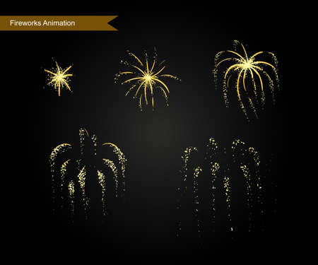 disappearance: Vector effect. Effect for game. Explode effect animation. Cartoon explosion frames