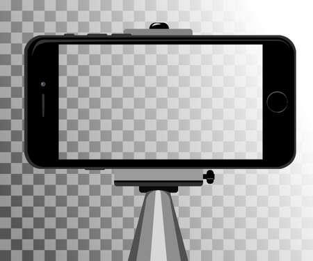 people  camera: stick for selfie. Monopod Selfie shots cartoon vector illustration.Young couple making self portrait. Selfie stick concept vector illustration selfie Illustration