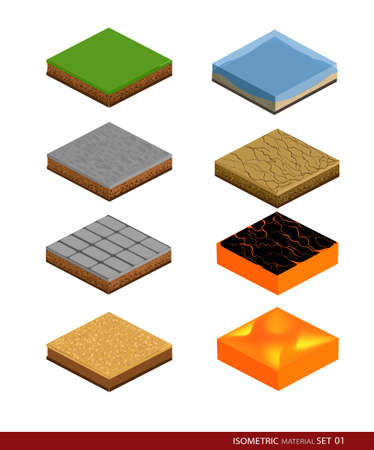 ice brick: Isometric material for game. Background for game.Materials and textures for the game.