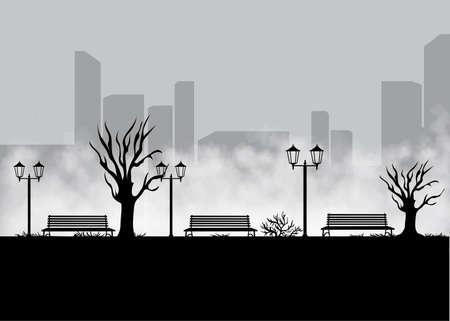 unending: Landscape for game.Background for game. Seamless cartoon landscape. vector unending background Illustration