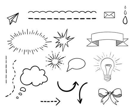 web template: Decorative elements web Web design portfolio template, vector illustration.