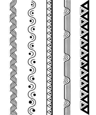 Vector line border set and geometric design elements