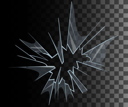 broken glass: Broken glass set Broken glass background collection