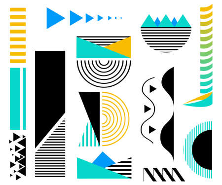 Design elements. Abstract line geometric background.