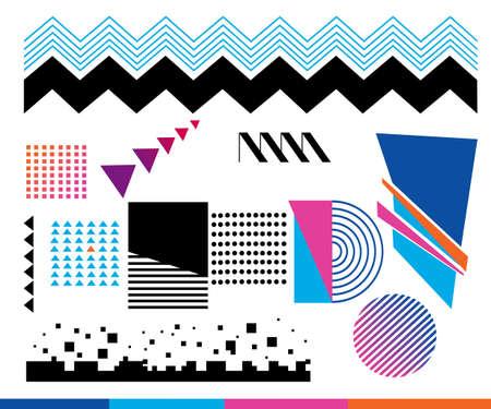 Elementos de diseño. Línea abstracta fondo geométrico.