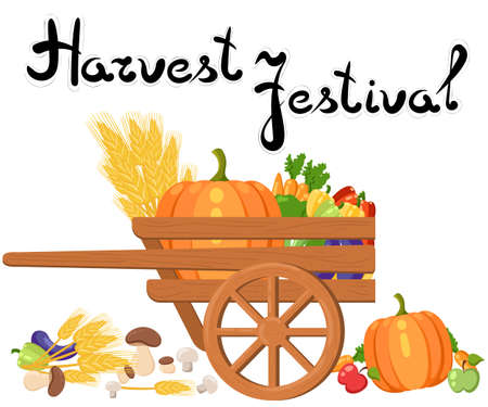 Harvest festival. Harvest fruits and vegetables. Autumn Collection of elements for your design