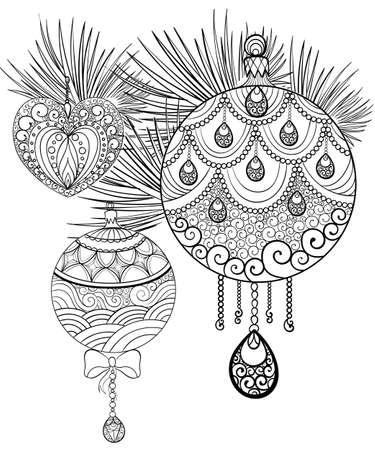 Dibujado A Mano Dibujo De Tinta. Libro De Colorante Para El Adulto ...