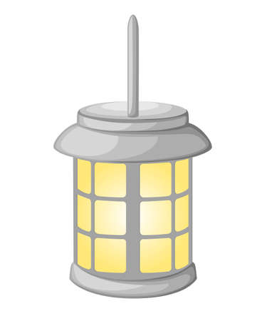 Home light with lamp icon in flat style. Simple vector illustration Illustration