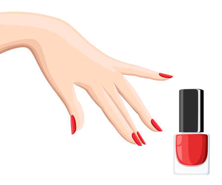 Manicure ontwerpset. Kleurrijke textuur voor nagel salon set van gekleurde geschilderd geïsoleerd op een witte achtergrond.
