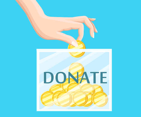 humanitarian: Donate help symbols charity organization flat icons set of food and donation hand abstract isolated vector illustration.