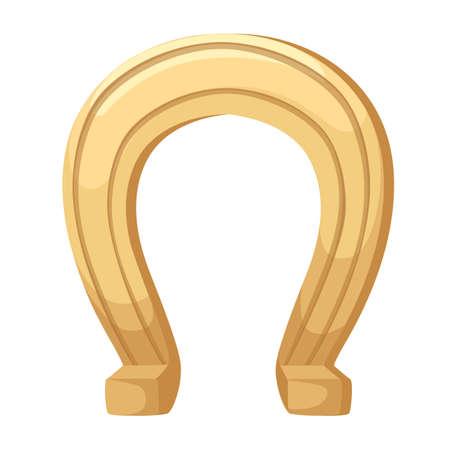 Hufeisen-Symbol. Flacher Design-Stil. Hufeisen einfache Silhouette. Moderne, minimalistische Ikone in stilvollen Farben. Website-Seite und Mobile-App-Design-Vektor-Element