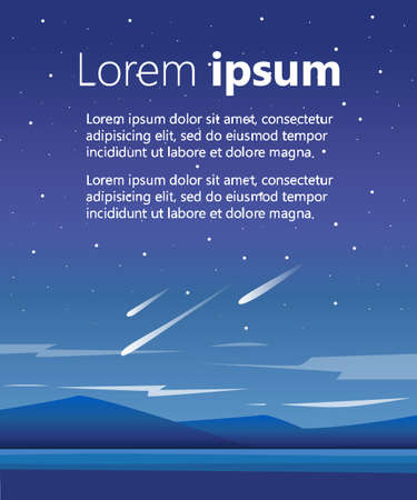high sierra: Night mountains vector background Vector mountains, lake and forest landscape in the night. Beautiful geometric illustration The space for the text for the brochure or website Illustration
