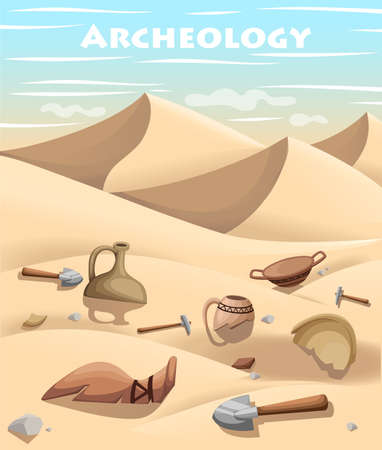 ancient civilization: Archeology and paleontology concept archaeological excavation