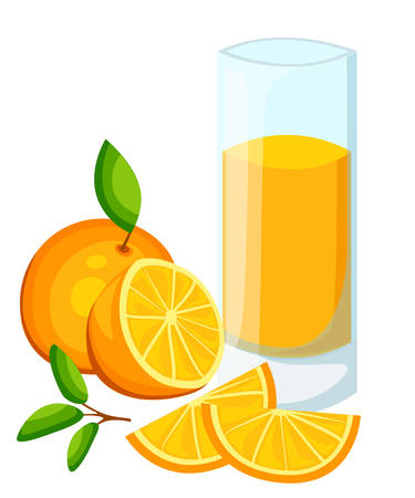 Design Template banner, poster, icons orange smoothies. Illustration of orange juice Drink me. Freshly squeezed tropical orange juice for healthy life. A glass of juice in doodle cute style. Vector. Illustration