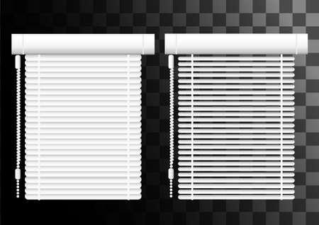 Office interior blinds illustration.