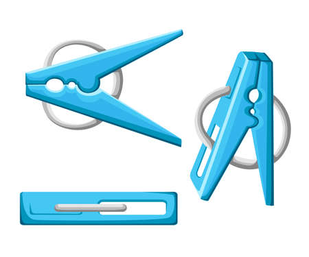 Abstract clothes pin. Icon clothespins. Vector illustration Illustration