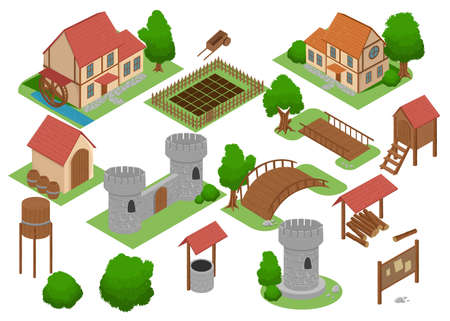 residential: Medieval house tile online strategic video game insight.
