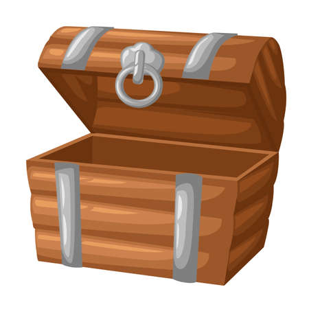 Wooden empty chest