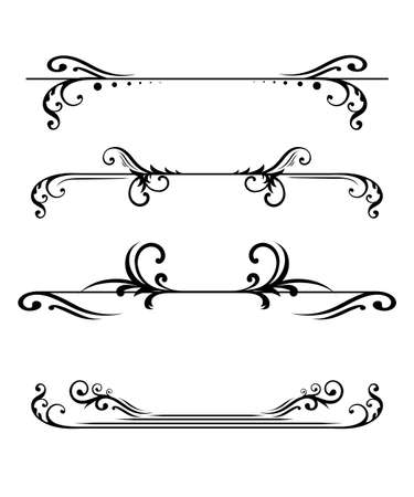 Elegant floral monograms and borders design.