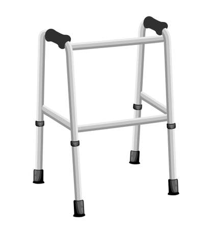 Crutches icon logo. Flat illustration of crutches vector icon isolated on white background Web site page and mobile app design.