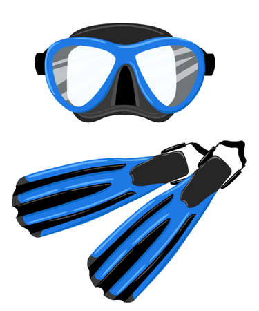 Diving equipment icons.