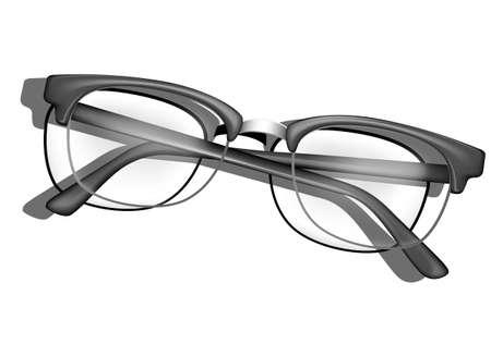孤立したファッションのメガネ デザイン。V のインテージの装飾的な要素。  イラスト・ベクター素材