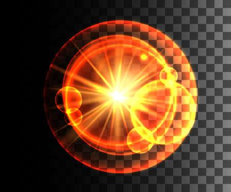 sun energy: Glow isolated white transparent effect, lens flare, explosion, glitter, line, sun flash, spark and stars. For illustration template art design, banner for Christmas celebration, magic flash energy ray. Illustration