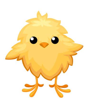 Funny chicken for easter decoration cartoon vector. Stock Illustratie