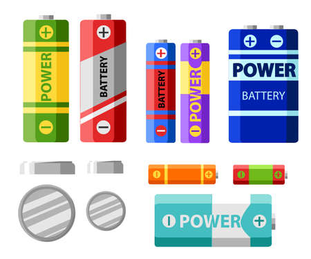 Battery pack. Primary cells or non-rechargeable batteries. Secondary cells or accumulators. Car battery. Illustration of the strength of the bank.