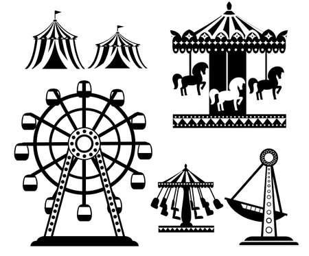 Black silhouette of carnival