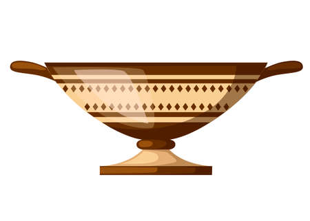 Ancient Greece kylix drinking cup.